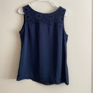 Banana Republic: Navy silky tank top